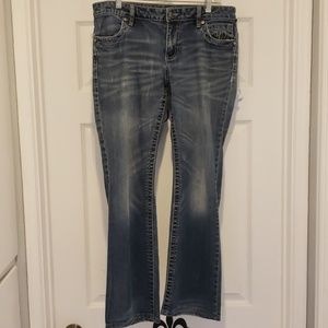 Harley-Davidson Distressed Boot cut Jeans, Size 8